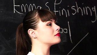 MILF teacher shows teen how to give handjob