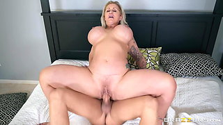 Curvy Wife Fucks All Over The House With Daughter's Big Cock