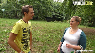 DEUTSCHLAND REPORT - BBW German Anna K. Has Outdoor Sex With BF