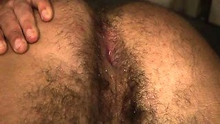 Dominant prisoner parks it in his sub cellmate\'s hairy ass