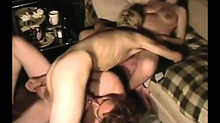 Bisexual threesome pussy and anal threesome pounding fun