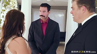 A Super-busty Bride Gets Horny During The Wedding Ceremony - Angela White