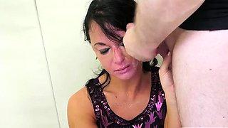 Bdsm throat and extreme rough brutal anal gangbang she is