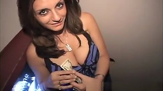 Charming ethnic babe with big breasts confesses her passion for cock