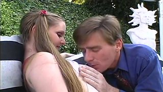 Young, innocent brunette craves sex with the dirty dean