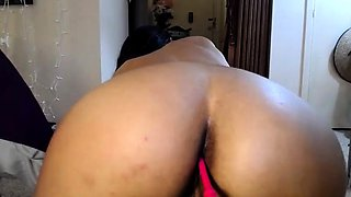 Sensual camgirl with perfect big boobs toys her fiery holes