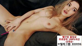 BJ for a Dildo – Korean blonde