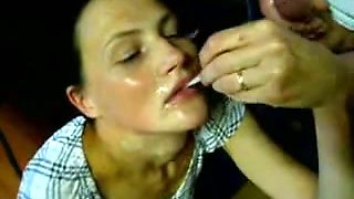 Drunk village slut wanted me and my friend cum on her face