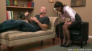 Slutty Brunette Doc Is Slammed By Her Patient