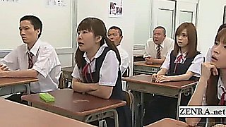 Subtitles CFNM nudist Japanese student