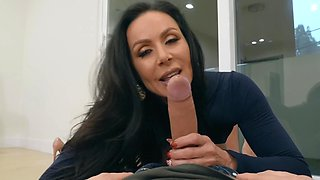 Kendra Lust has crazy sex with her shy fan in his bedroom