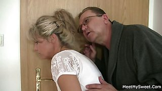 He leaves and old parents seduces his yummy GF