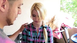 Horny Brother Blackmails Step Sister