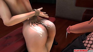 Futanari foursome with big tits 3D babes