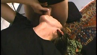 Incredible Cowgirl In Glasses Gets A Facial After Getting Drilled