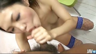 Sweet Japanese honey Yui Komine in her bedroom with a horny