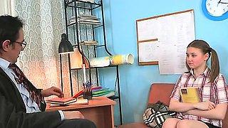 Teacher forcing himself on lovely chick