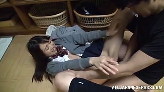 School Girl Can Handle Two Dicks