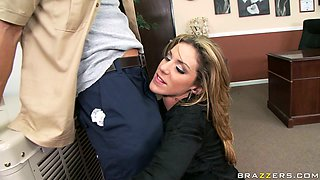 Busty bitch Kayla Paige gets her juicy pussy fondled