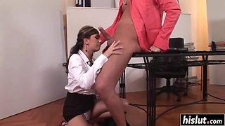 Sylvia Diamond is a naughty secretary