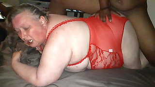 BBW whore wife deeply pounded by BBC