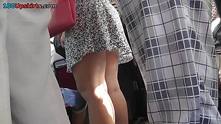 Cute mother i'd like to fuck upskirt with pink cotton panty