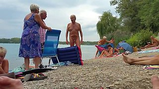 nudist grandpa at the beach - 3