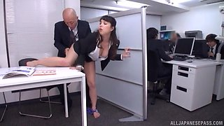Quickie fucking in the office with a cock hungry secretary