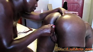 Curvy African lesbians get really naughty in the bedroom.