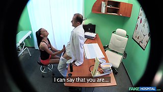 Sexy chick Igna Devil gets fucked in the fake hospital. Spy cam
