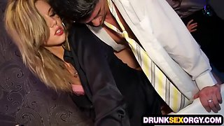 Hot secretaries fucking at the orgy party