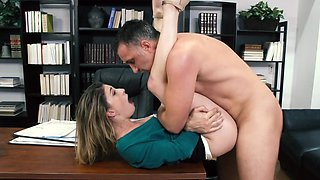 Horny dean fucks a good looking girl in his office