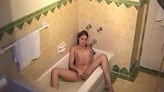 bath teen masturbation voyeur