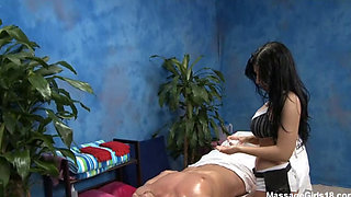 massaging a perfect latina