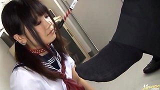 Ai Eikura in school girl uniform fucking hard