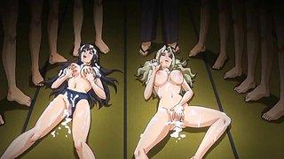 Sport uniform anime coeds gangbang and cumshot allbody
