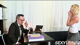 Slutty aged teacher is seducing babe's lusty beaver