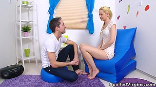 Russian Virgin With Perky Nipples Checked By Doctor And Deflowered