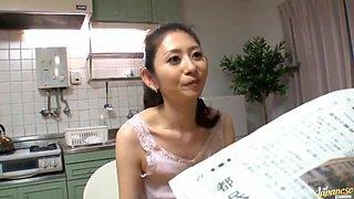 Sweet Asian girl Miku Hasegawa likes to get wild in the bathroom