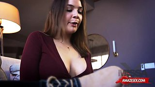 Hot sister doggystyle and creampie