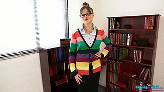 Modest librarian Jenny turned to be very hot stripper