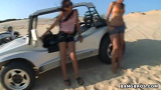 Amanda and Malli Abdallah get naughty on the beach