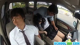 Japanese school girl slut sex in car and fucking hot too
