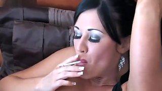 Lolly Badcock smoking 2