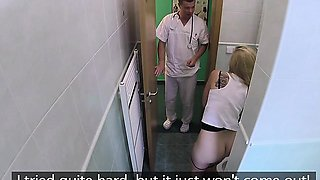 Cute Chick Lady Blond Seduces Her Horny Doctor