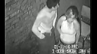 Real Security Cam Tape Of Drunk Girl in An Alley 01