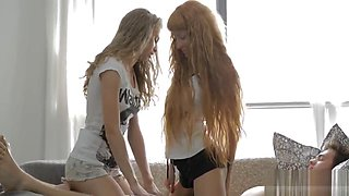 Erotic lesbian pleasuring