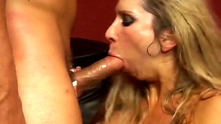 Awasome Blonde MILF love monster cock