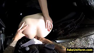 pulled ginger student cumswallows cop pov