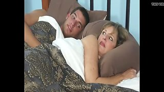 just for one night - stepmom and son share a bed - wj